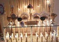 صورة تزيين طاولات استقبال , اشيك الافكار لطاولة استقبال مميزة و انيقة
