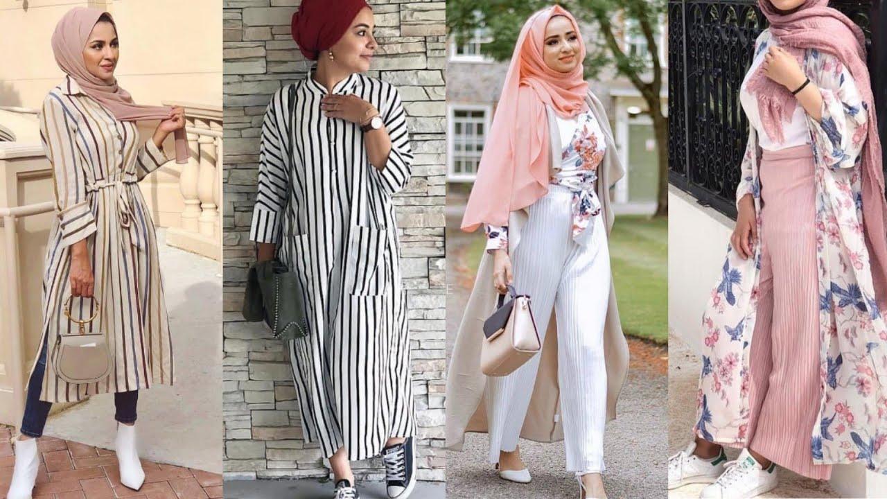 صورة ملابس كاجول للمحجبات , اشيك لبس كاجوال يناسب حجابك 3717