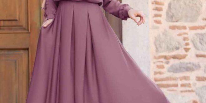 صورة فساتين نساء محجبات , احلي الفساتين المحتشمه