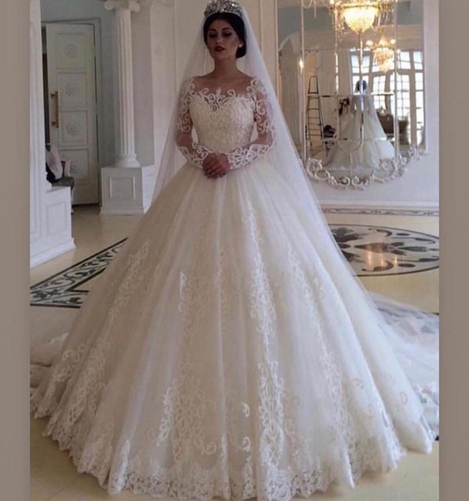 صورة فساتين اعراس عربية , احصلي علي اطلاله الاميرات يوم زفافك