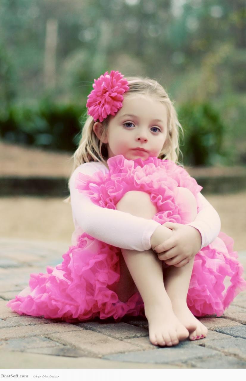 صورة صور اطفال مع ورد , اشيك الصور لاطفال جميلة
