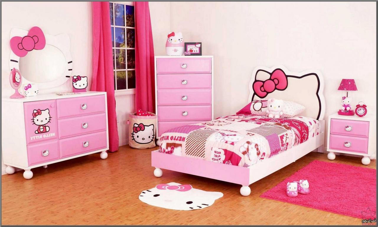 صورة غرف هيلو كيتي , للبنات بس لوحدهم حجرة نوم بناتي من كيتي 933 5