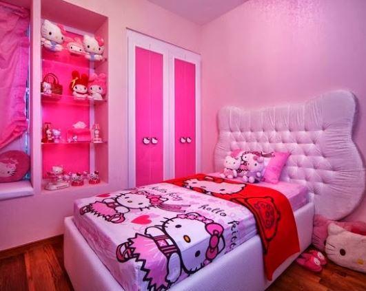 صورة غرف هيلو كيتي , للبنات بس لوحدهم حجرة نوم بناتي من كيتي 933 9