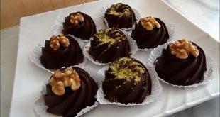 صورة حلويات بالشكولاطة بدون طهي , اشهى واسهل حلويات الشيكولاتة من غير طبخ