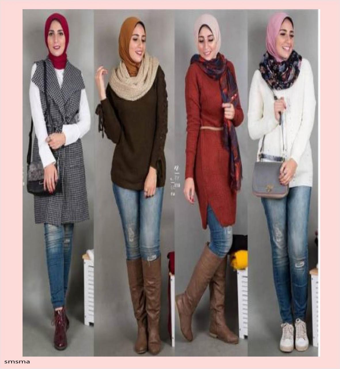 صورة ملابس كاجول للمحجبات , اشيك لبس كاجوال يناسب حجابك 1572 1