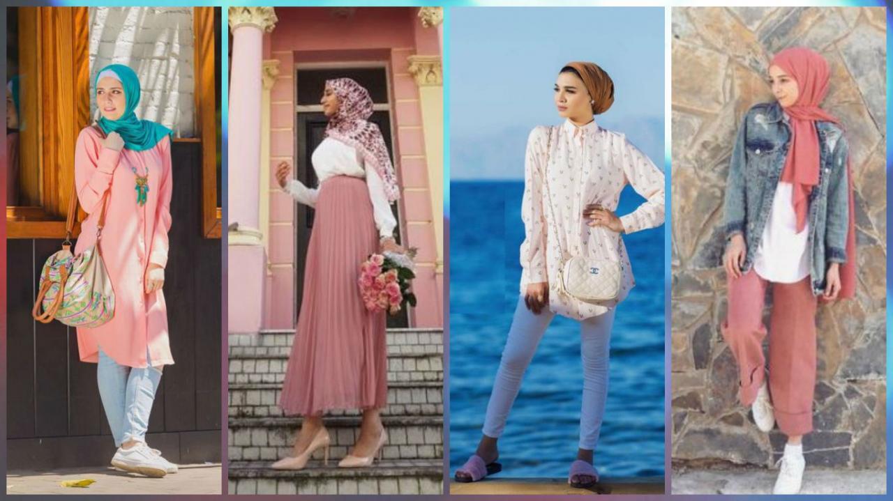 صورة ملابس كاجول للمحجبات , اشيك لبس كاجوال يناسب حجابك 1572 2