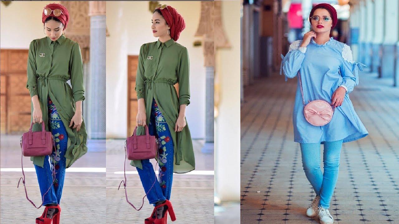 صورة ملابس كاجول للمحجبات , اشيك لبس كاجوال يناسب حجابك 1572 5