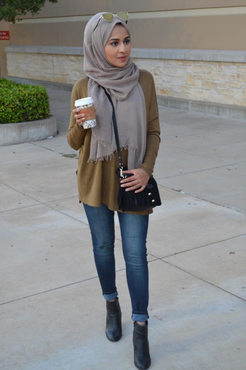 صورة ملابس كاجول للمحجبات , اشيك لبس كاجوال يناسب حجابك 1572 6