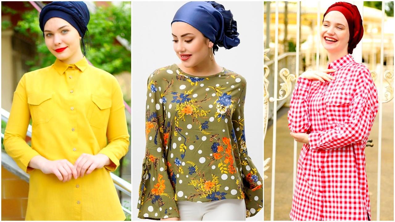 صورة ملابس كاجول للمحجبات , اشيك لبس كاجوال يناسب حجابك 1572 7