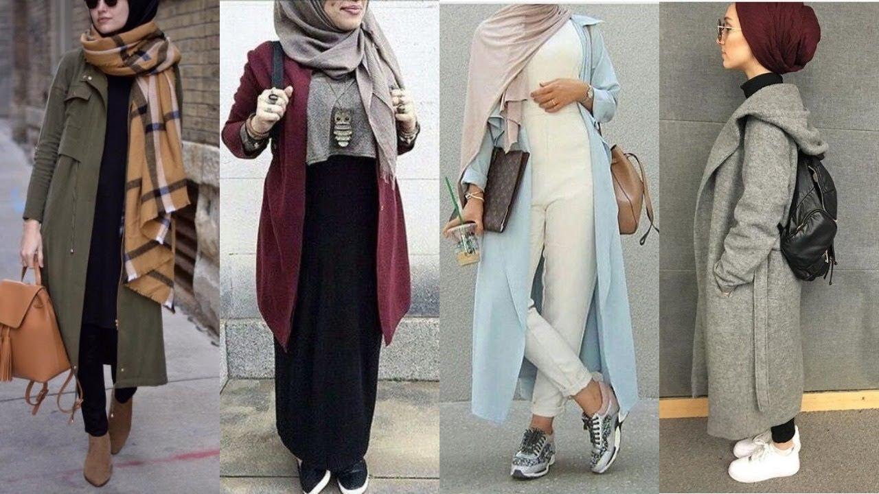 صورة ملابس كاجول للمحجبات , اشيك لبس كاجوال يناسب حجابك 1572 8