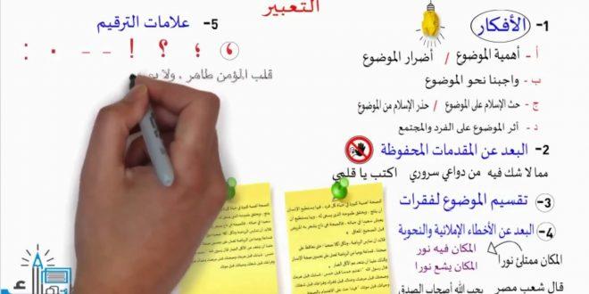 صورة كيفية كتابة موضوع تعبير باللغة العربية , اسهل الطرق لكتابة موضوع لغوي
