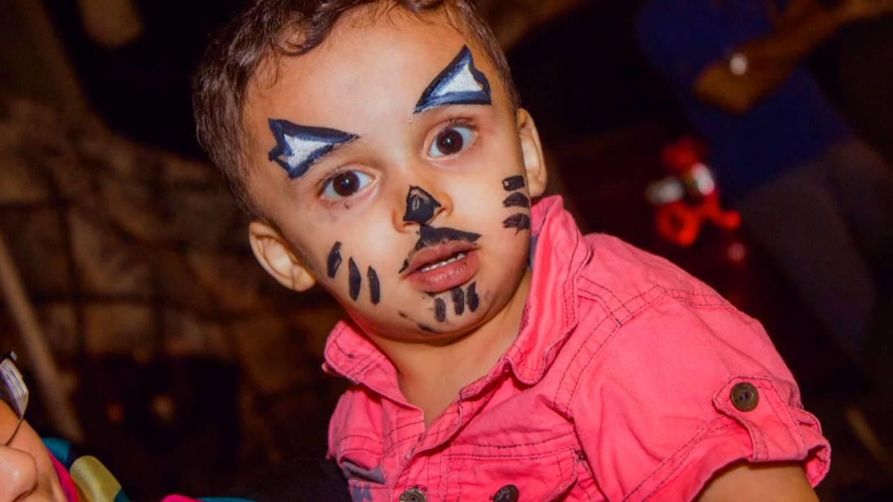 رسم الوجه للاطفال فرحى طفلك برسمه جميله على وجهه حنان خجولة