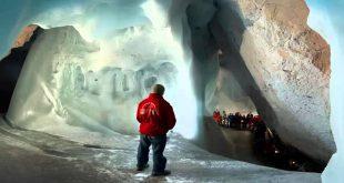 صورة اين يوجد اكبر كهف جليدي , معالم واماكن خرافيه