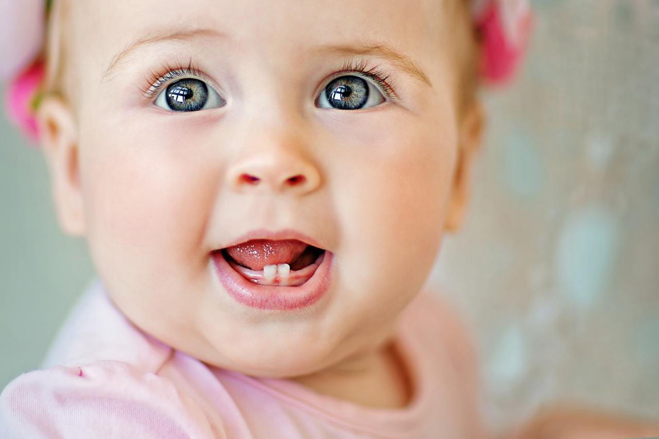 صورة اعراض تسنين الاطفال , اوقات تسنين الطفل واعراضه