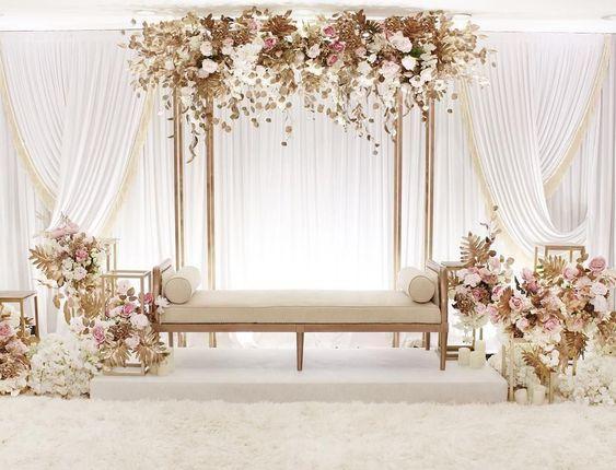 صورة كوشات افراح بسيطة , في ليلة زفافك احلى كوشة تفتكيرها طول عمرك
