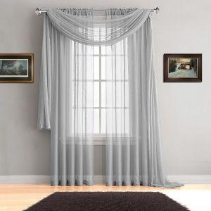 صورة ستائر شيفون بسيطة , لو عروسة اشيك ستائر لغرف النوم او المعيشة