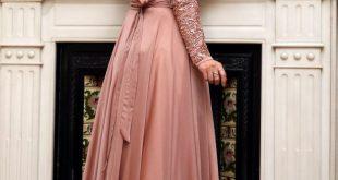 صورة فستان خطوبة للمحجبات , اطالالة للخطوبة مختبفة جدا