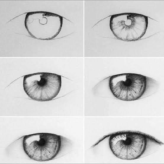 كيف ترسم العين بطريقة بسيطة تعلم رسم شئ سهل حنان خجولة
