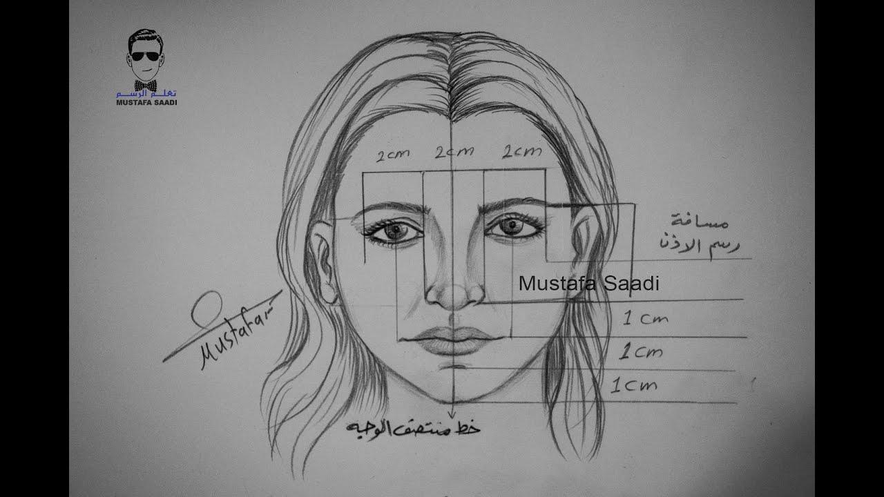 صورة تعلم رسم البورتريه بالرصاص للمبتدئين , في خطوات بسيطة تعلم رسم مثل المحترفين