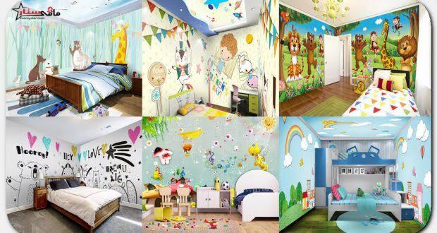 صورة ورق جدران لغرف الاطفال , زيني غرف اطفالك باحلى ورق حائط