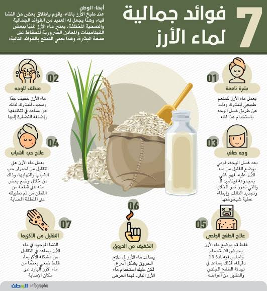 صورة فوائد ماء الرز , لماء الروز فوائد كثيره للبشره