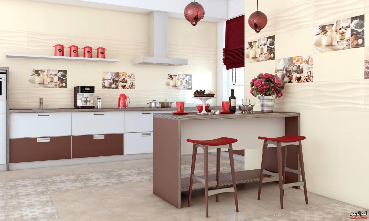 صورة اشكال سيراميك مطابخ , غيرى ديكور مطبخك باشكال السيراميك التحفه