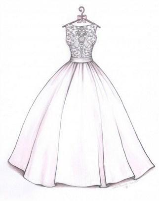 صورة صور رسم الفساتين , صفحات تنشر كيفية عمل فستان بالخطوات