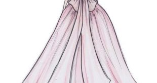 صور رسم الفساتين , صفحات تنشر كيفية عمل فستان بالخطوات