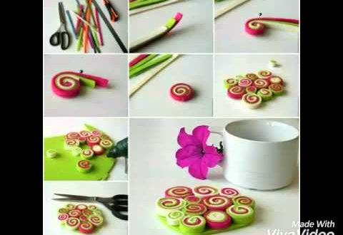 صورة اعمال يدوية بسيطة جدا بالخطوات , حرفة سهلة لقضاء وقت ممتع او استعمال اشياء مهملة