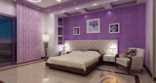 صورة ديكورات جبس بورد غرف نوم , غرفتك اشيك بالجبس بالورد
