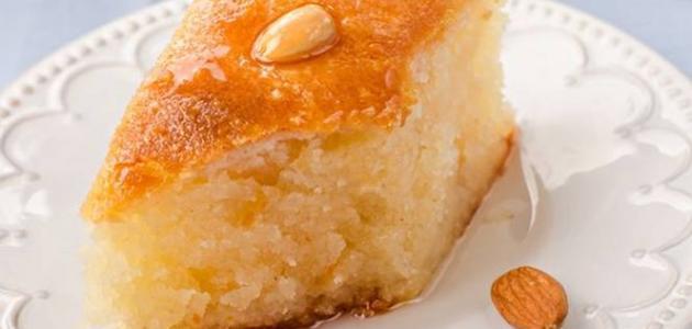 صورة بسبوسه بدون بيض , احلى حلويات من ايديك انت بس