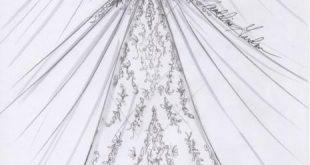 صورة رسم فستان طويل , تعلم بعض الرسومات الرائعة لرسم جميل