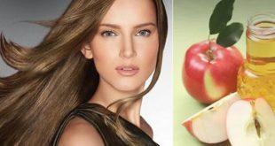 صورة استخدمي خل التفاح للحفاظ علي لون شعرك , خل التفاح للشعر المصبوغ