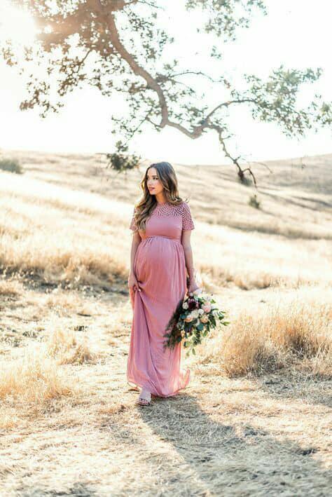 صورة الحامل وشياكتها في الفساتين , فساتين سهرة للحوامل