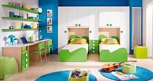 صورة وفري في غرفة مساحة اطفالك , غرف نوم اطفال بسريرين